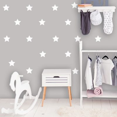 White star wall stickers | Shape wall stickers | Stickerscape | UK