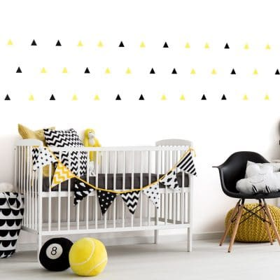 Black and yellow triangle wall stickers | Shape wall stickers | Stickerscape | UK