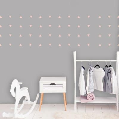 Pink triangle wall stickers | Shape wall stickers | Stickerscape | UK