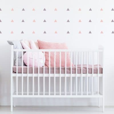 Pink and lilac triangle wall stickers | Shape wall stickers | Stickerscape | UK