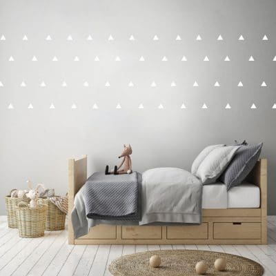 White triangle wall stickers | Shape wall stickers | Stickerscape | UK
