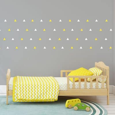 White and yellow triangle wall stickers | Shape wall stickers | Stickerscape | UK