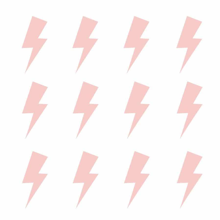 Pink lightning bolt wall stickers | Shape wall stickers | Stickerscape | UK