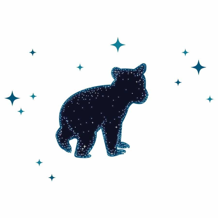 Bear constellation wall sticker | Space wall stickers | Stickerscape | UK