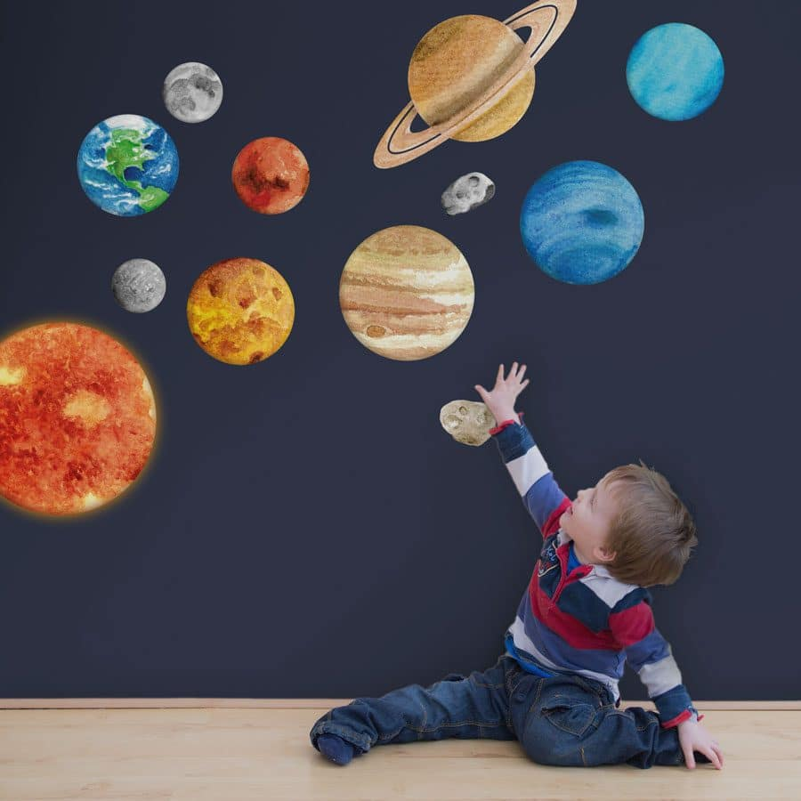 solar system wall sticker for a child's bedroom