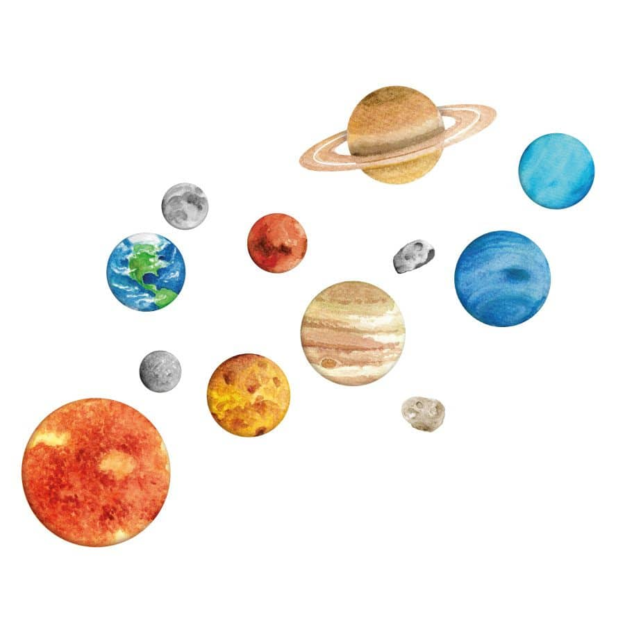 Solar system wall sticker | Space wall stickers | Stickerscape | UK