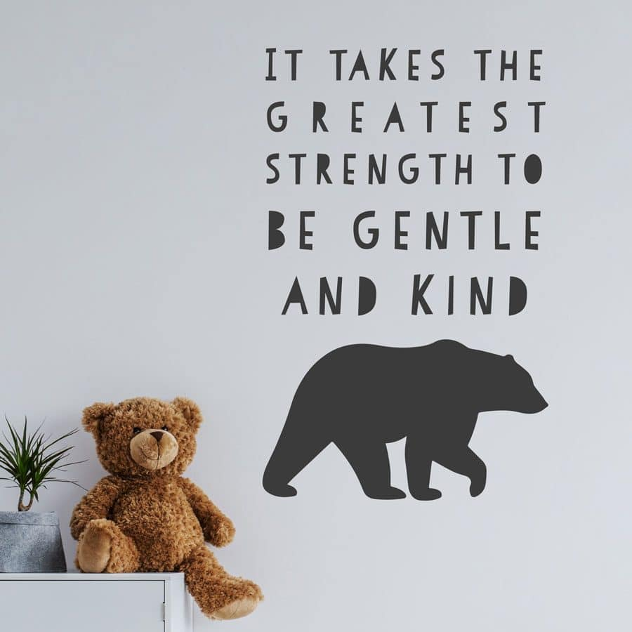The Greatest Strength wall sticker in charcoal grey