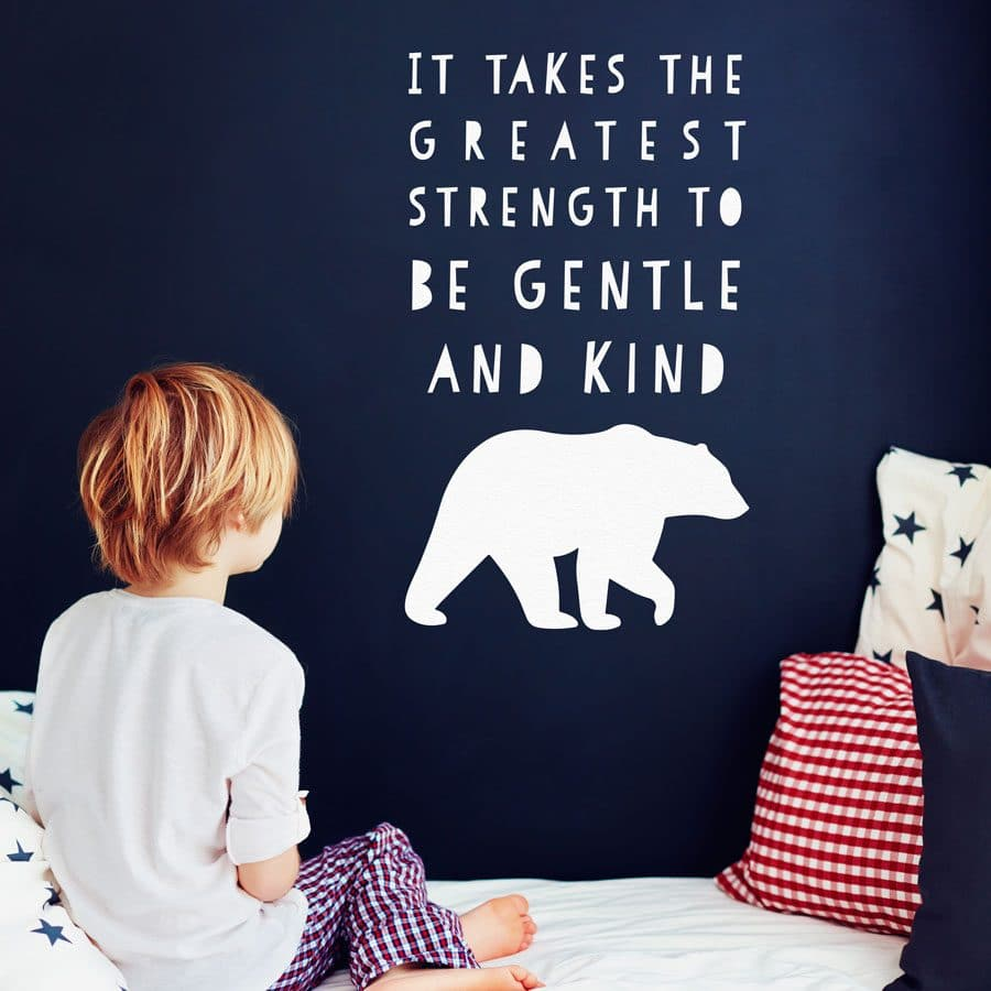 The Greatest Strength wall sticker in white