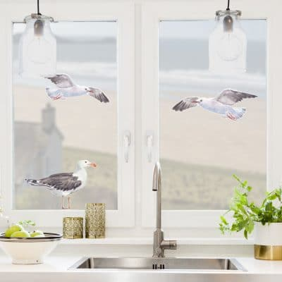 Seagull window stickers perfect for decorating your windows and great for creating a seaside theme in your home or kitchen