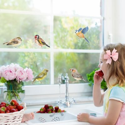 Spring bird window stickers perfect for decorating your home with during Spring time