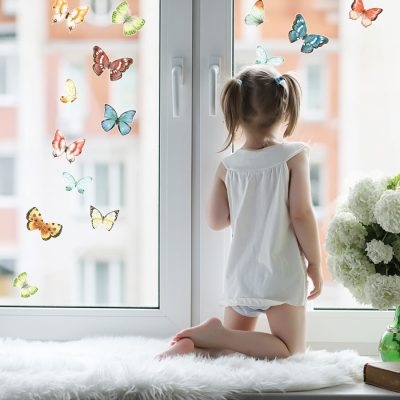 Spring butterfly window stickers perfect for decorating your home with during Spring time