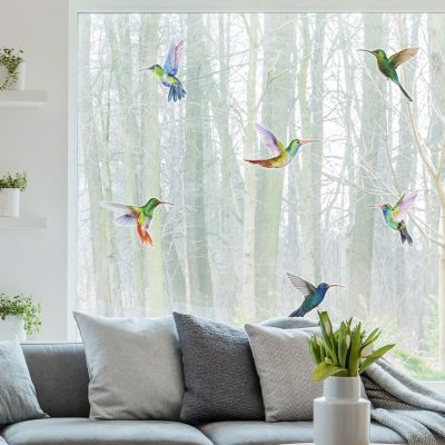 Hummingbird window stickers perfect for decorating your home with during Spring time