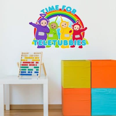 Time for Teletubbies wall sticker (Large size) perfect decorating your child's bedroom or playroom with a Teletubbies theme