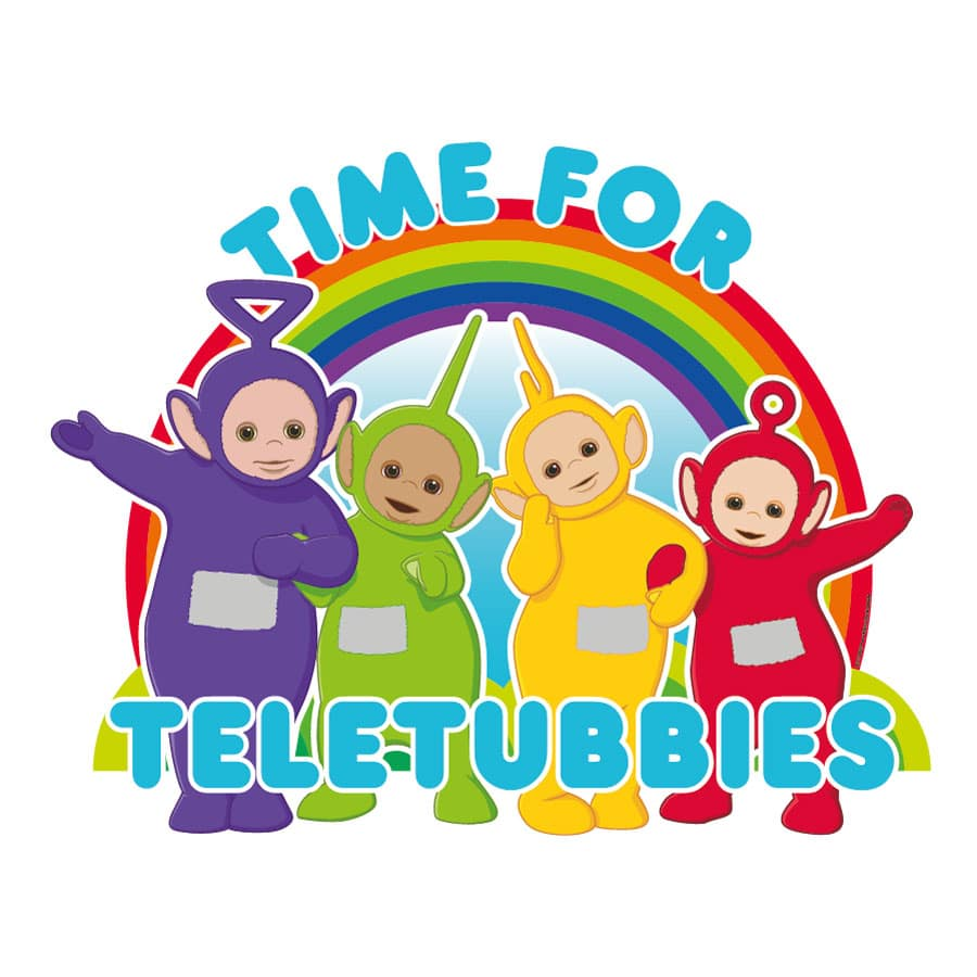 Time for Teletubbies wall stickers (Large size) on a white background
