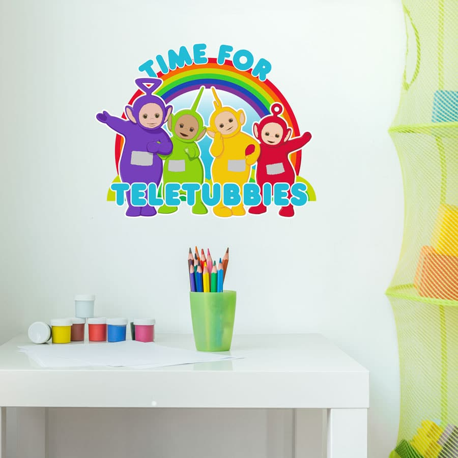 Time for Teletubbies wall sticker (Regular size) perfect decorating your child's bedroom or playroom with a Teletubbies theme