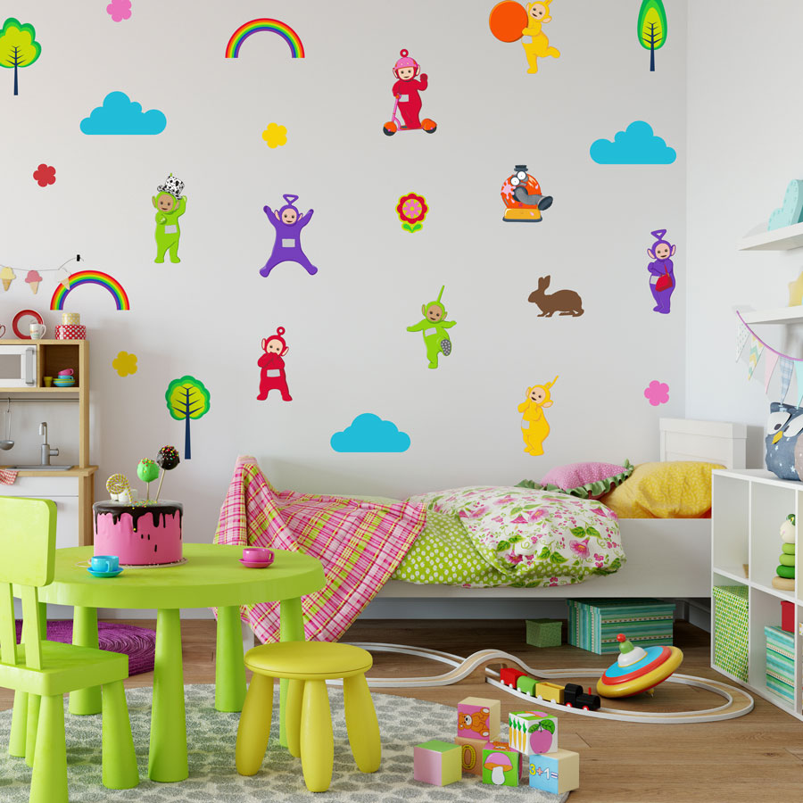 Teletubbies stickaround wall sticker pack (Large size) perfect for creating a Teletubbies theme in your child's room