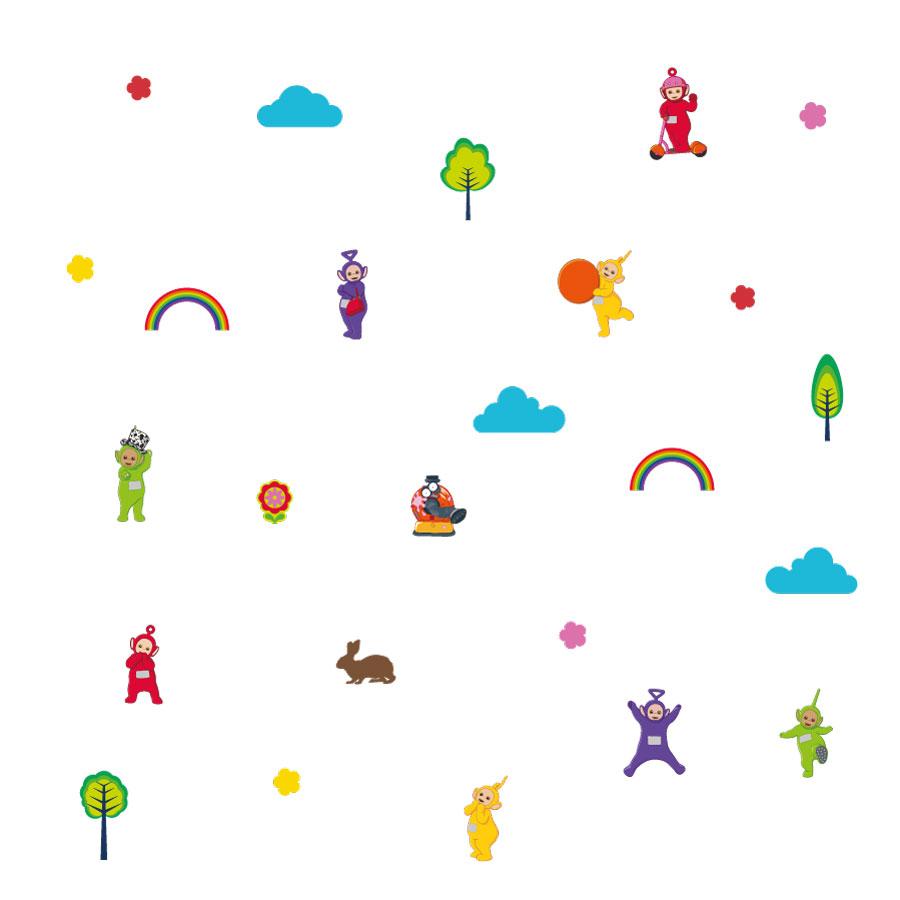 Teletubbies stickaround wall sticker pack (Regular size) on a white background