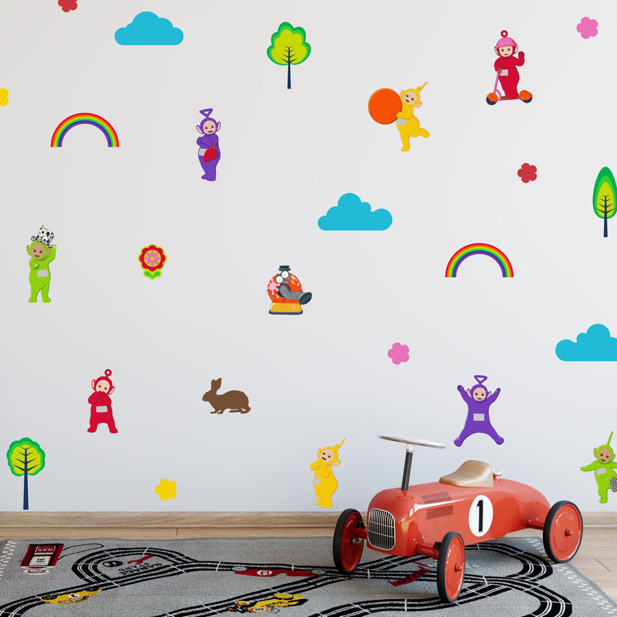Teletubbies stickaround wall sticker pack (Regular size) perfect for creating a Teletubbies theme in your child's room