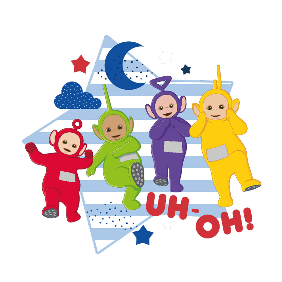 Teletubbies with star wall sticker (Large size) on a white background