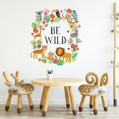 Be wild jungle wall sticker the perfect to create a jungle themed child's bedroom or playroom