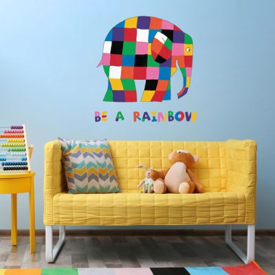 Elmer be a rainbow wall sticker (Large size) perfect for creating an Elmer theme in your child's bedroom or playroom