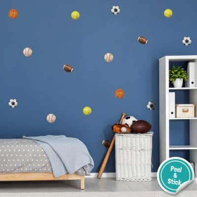 Sport wall stickers perfect for decorating a child's bedroom or playroom with a sport theme