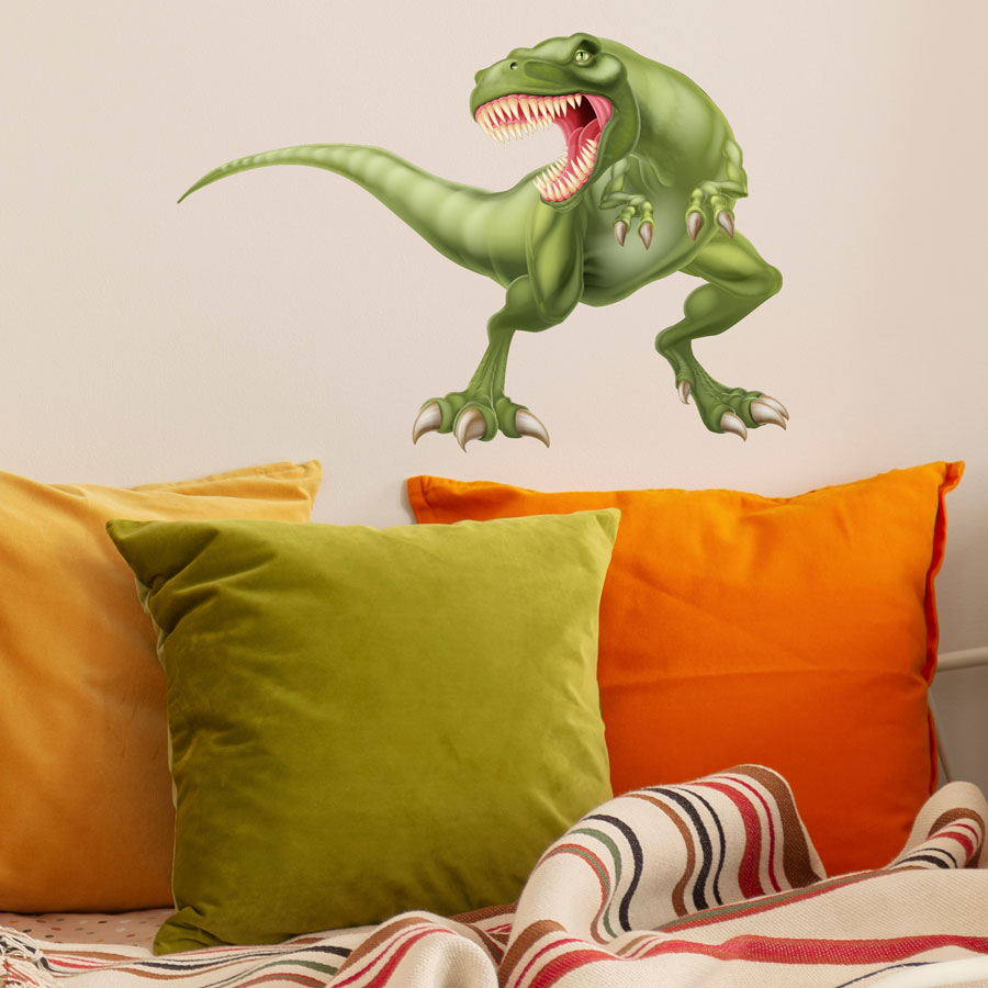 Fierce T-Rex wall sticker (Regular) perfect for adding a statement wall graphic to create a dinosaur themed room for a child