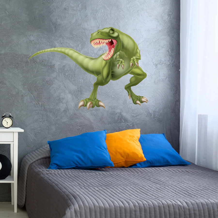 Fierce T-Rex wall sticker (Extra large) perfect for adding a statement wall graphic to create a dinosaur themed room for a child