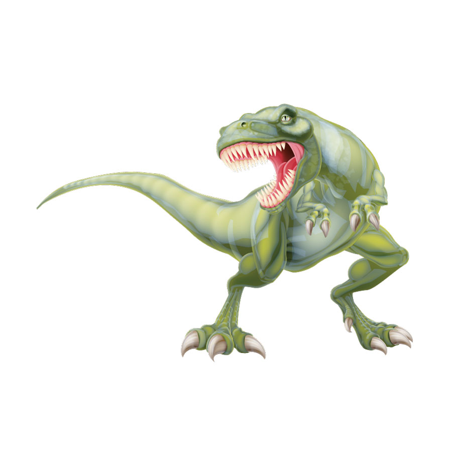 Fierce T-Rex wall sticker (Extra large) on a white background