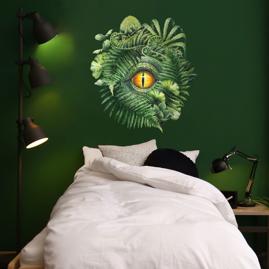 The DInosaur Eye wall sticker perfect for adding a focal point to a dinosaur themed bedroom