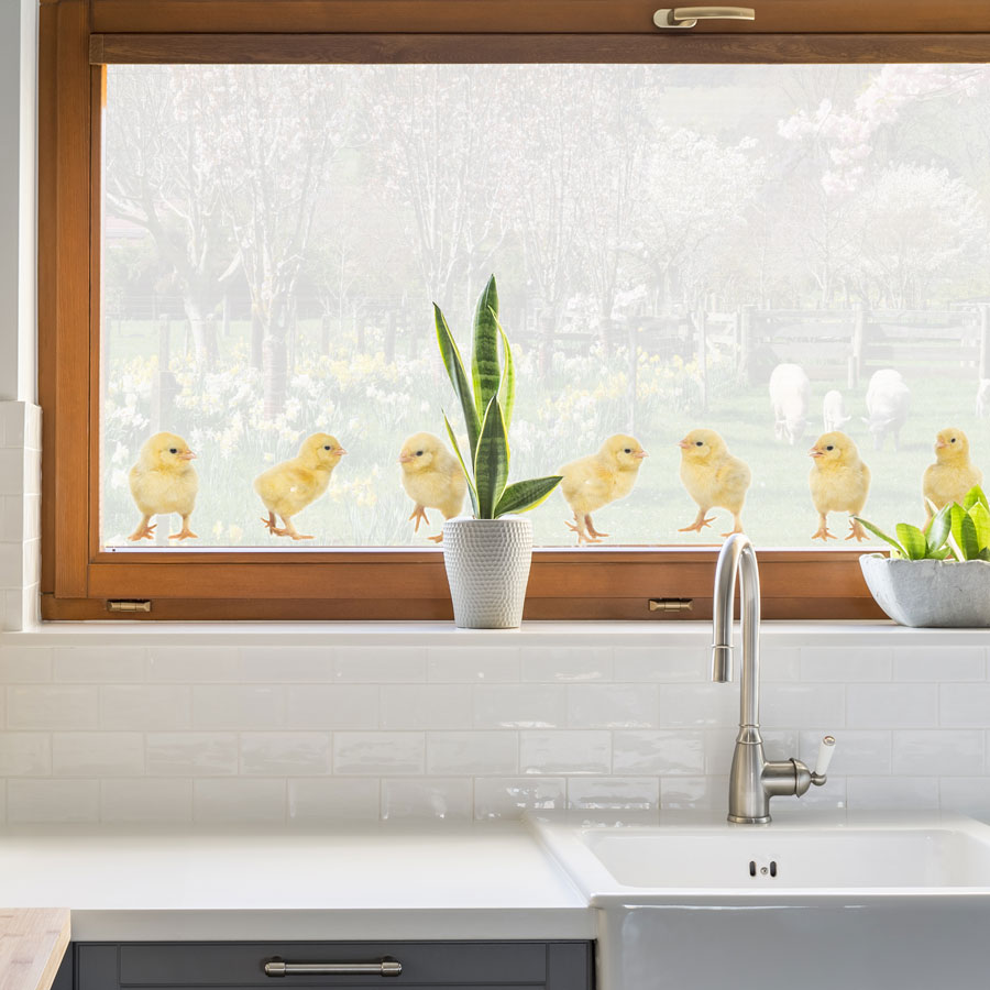 Little chick window stickers are perfect for decorating your windows this Easter and are suitable for kitchens, children's bedrooms and playrooms