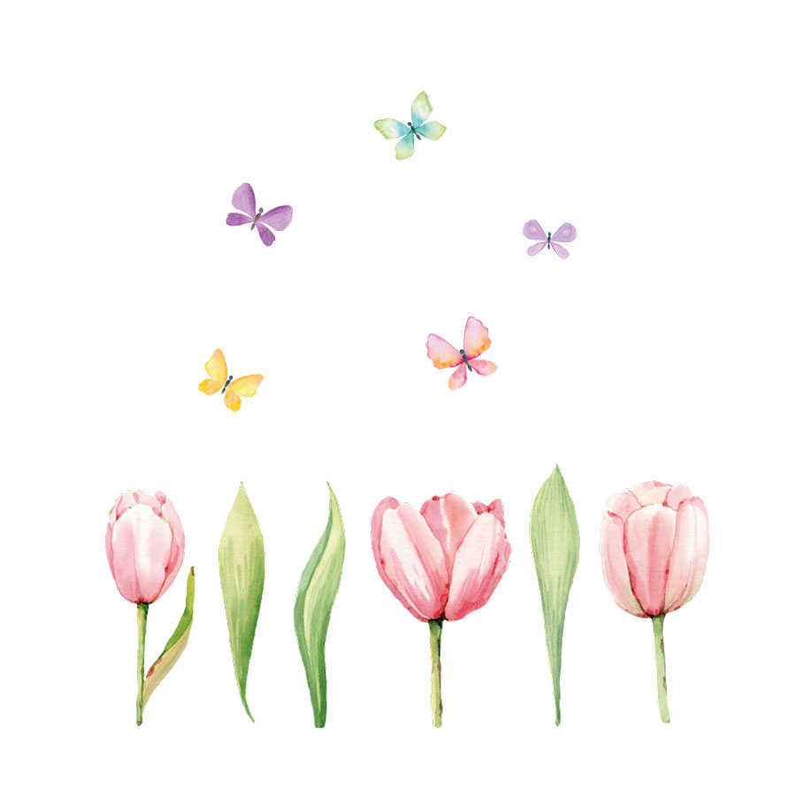 Tulip window stickers (Option 2) on a white background