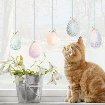 Pastel Easter egg windows stickers perfect for decorating your home this Easter