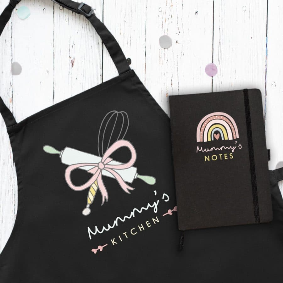 Apron and notebook gift bundle perfect gift for mothers day for mum or nana