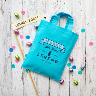 Personalised Easter egg hunt legend bag (Blue bag) is the perfect way to make your child's Easter egg hunt super special this year