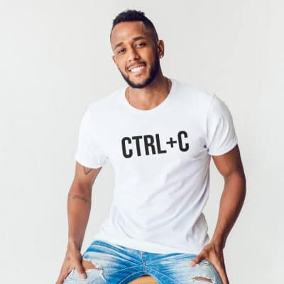 Ctrl-C Men's T-shirt (White) perfect gift for fathers day, birthday or Christmas