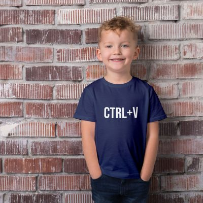 Ctrl-V Children's T-shirt (Navy) perfect gift for fathers day, birthday or Christmas