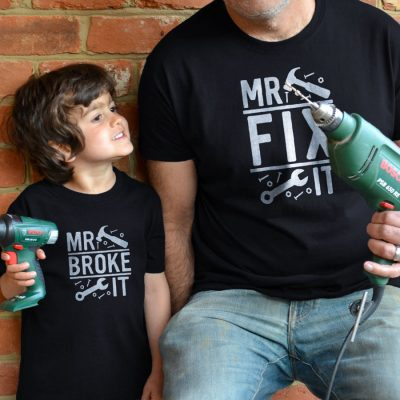 Mr Fix It Men's T-shirt (Black) perfect gift for fathers day, birthday or Christmas