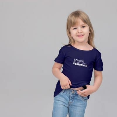 Snack Destroyer Children's T-shirt (Navy) perfect gift for fathers day, birthday or Christmas
