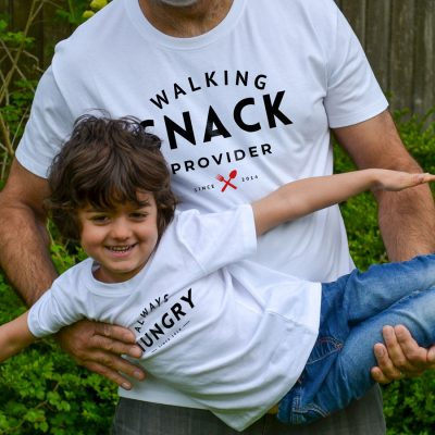Walking Snack Provider T-shirt (White) perfect gift for fathers day, birthday or Christmas