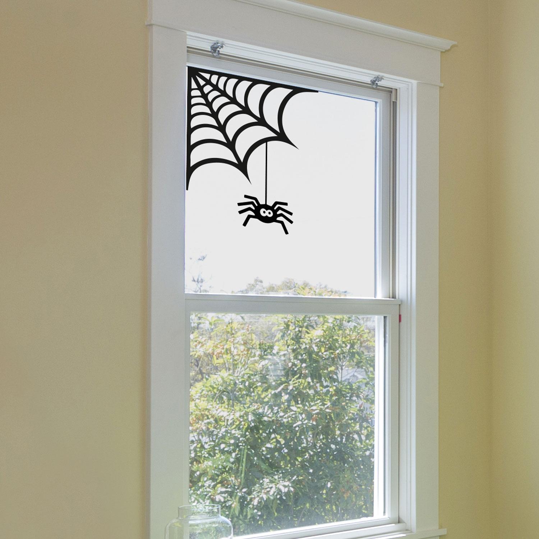 spider cobweb window sticker | halloween window stickers | stickerscape