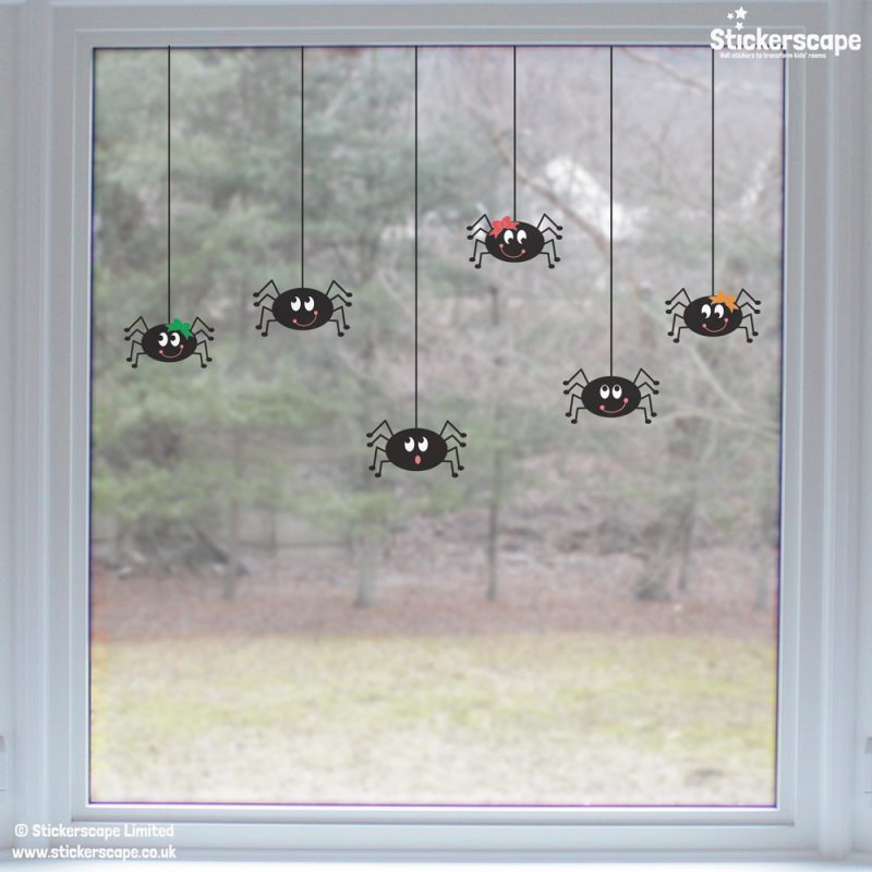 Spider window stickers | Halloween window stickers (Lifestyle) | Stickerscape | UK
