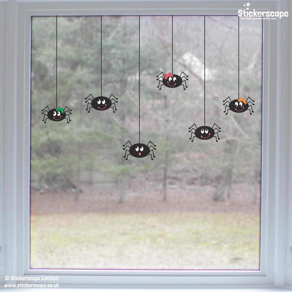 Spider window stickers | Halloween window stickers (Lifestyle) | Stickerscape | UK