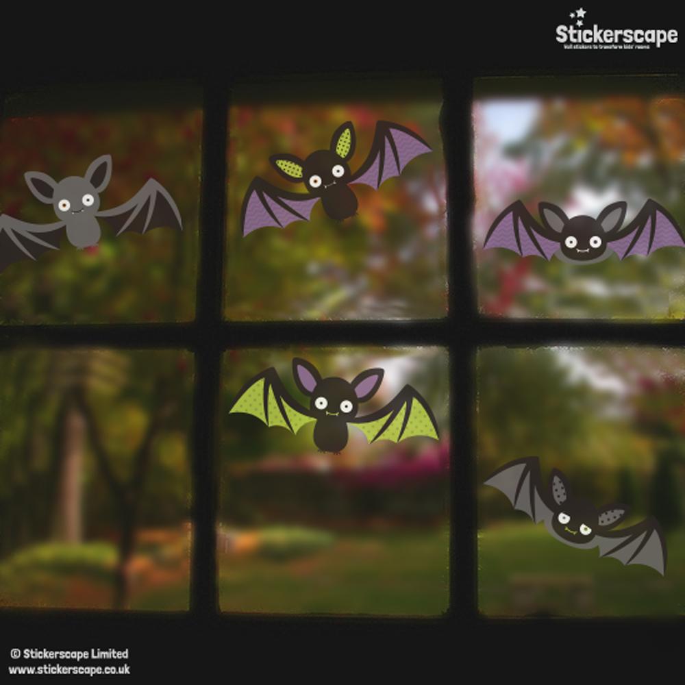 bat window stickers | halloween window stickers | stickerscape