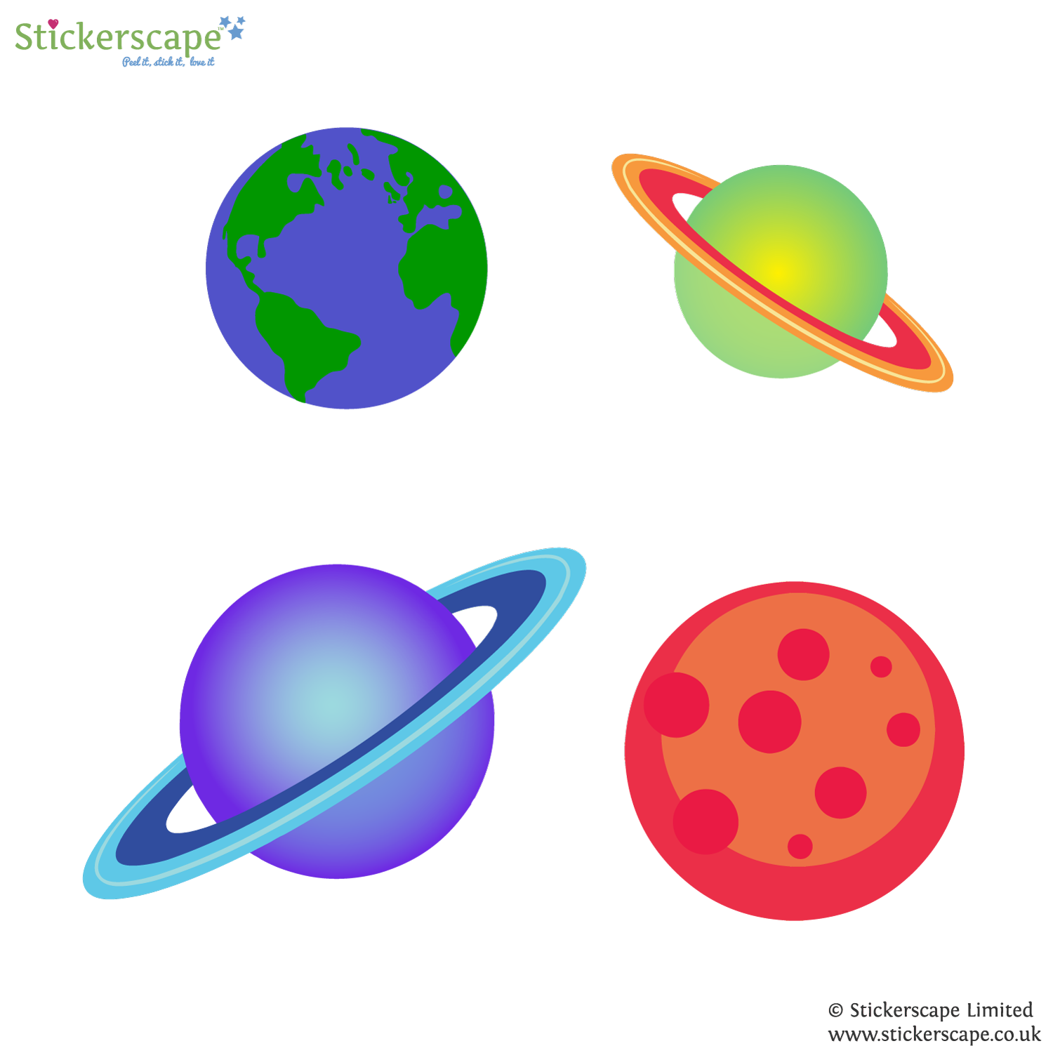 planet wall stickers stickerscape uk planets wall sticker