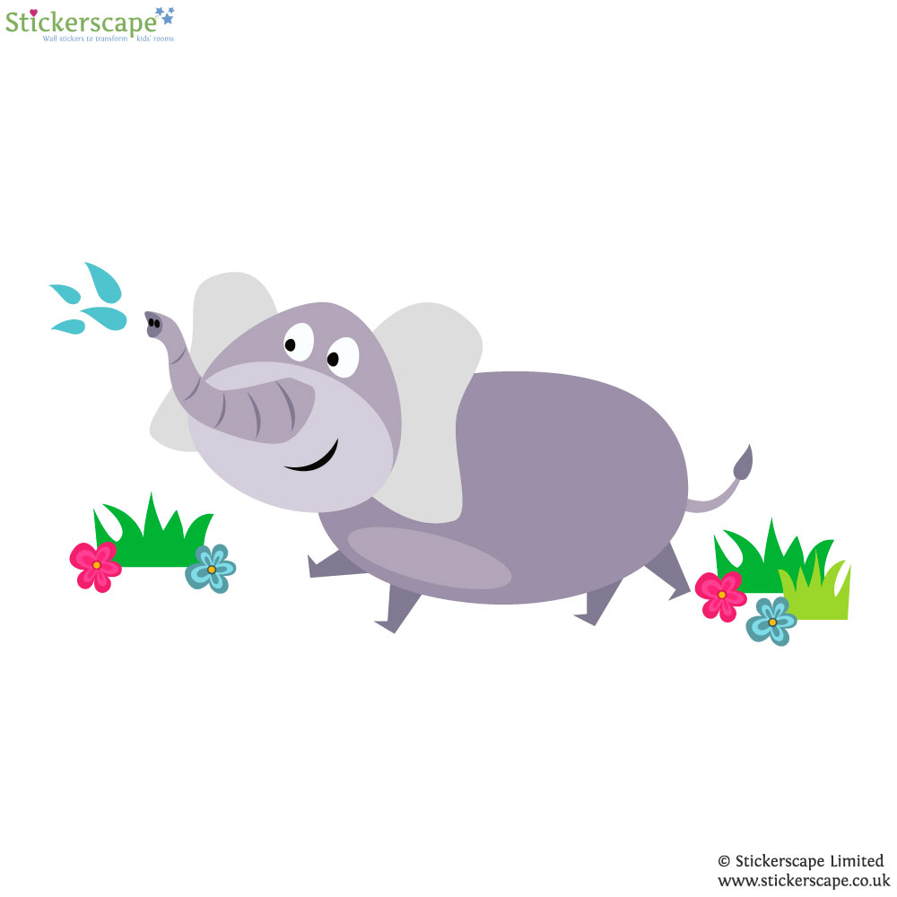 elephant wall sticker jungle wall stickers
