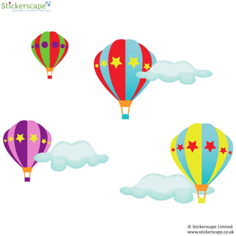 Hot air balloon wall stickers | Transport wall stickers | Stickerscape | UK