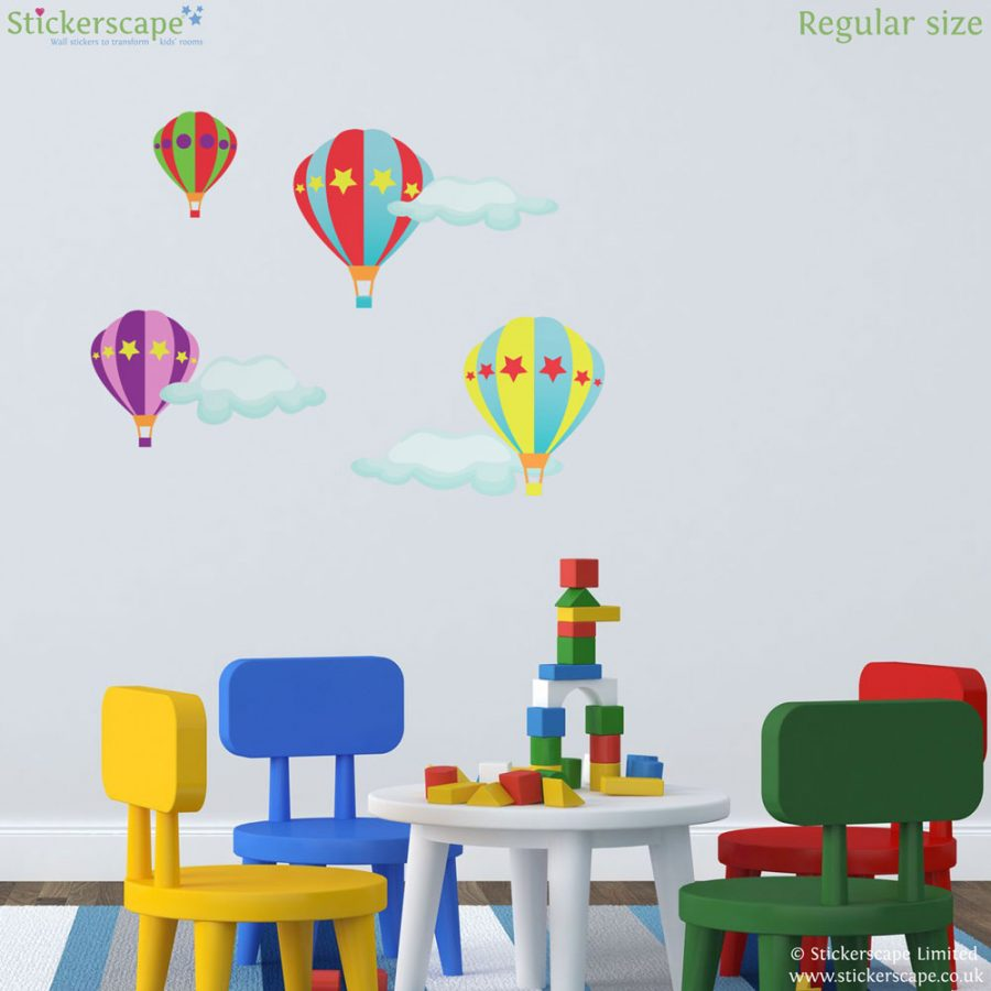 Hot air balloon wall stickers (Regular size) | Transport wall stickers | Stickerscape | UK