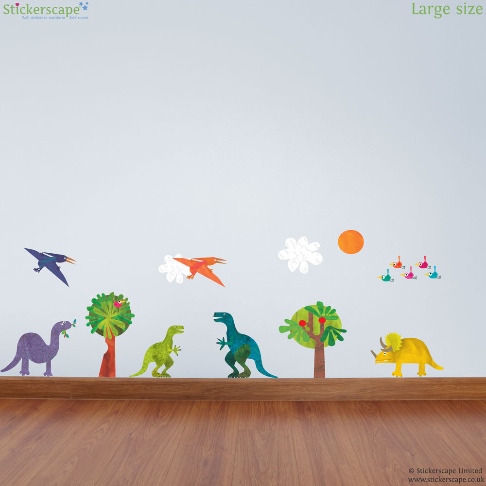 dinosaur collection wall sticker pack stickerscape uk dinosaur collection wall sticker pack