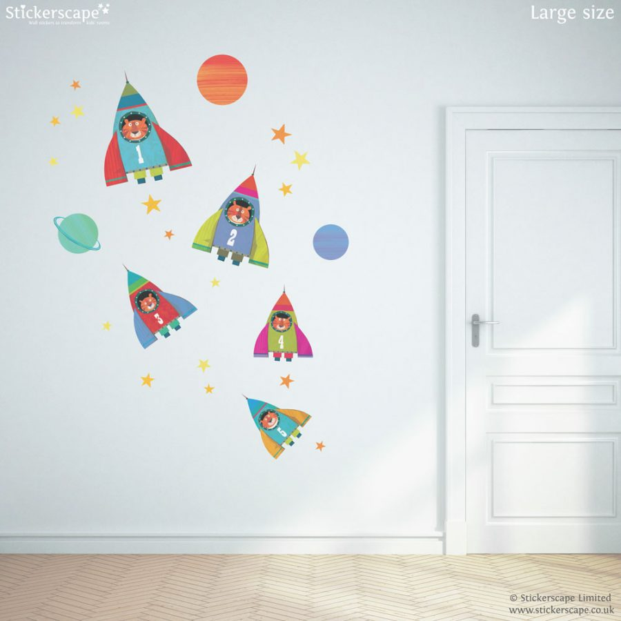 Rocket wall stickers | Kali Stileman | Stickerscape | UK